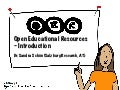 Open Educational Resources (OER) - Introduction