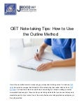 OET Note-taking Tips: How to Use the Outline Method