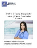 OET Test-Taking Strategies for Listening Part A: Consultation Extracts