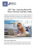 OET Tips: Learning About the Three Common Auxiliary Verbs