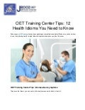 OET Training Center Tips: 12 Health Idioms You Need to Know