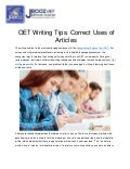OET Writing Tips: Correct Uses of Articles
