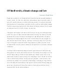 Of biodiversity climate_change_and_law