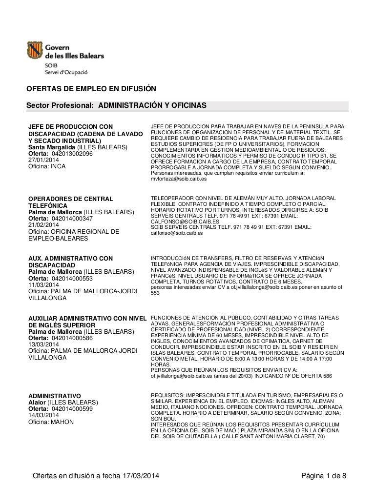 OFERTAS DE EMPLEO DEL SOIB MARZO 2014 (3)