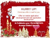 Best Christmas Offer on Web & Mobile App Development Services - Auxano Global Services