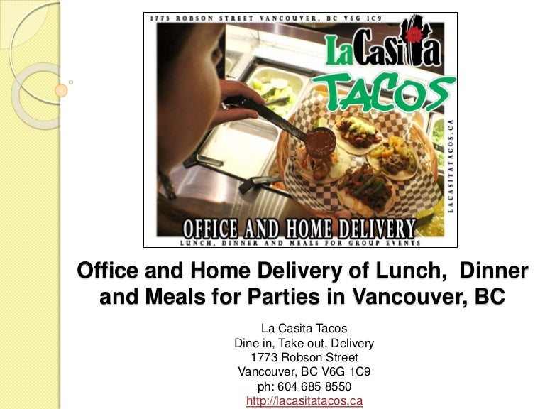 Office and home delivery of lunch dinner and meals for parties in van forumfinder Image collections
