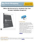 Office 365 university 4yr academic key card (student validation required)