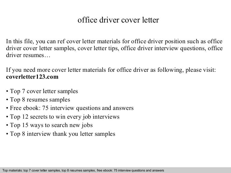 Driver Cover Letter Samples