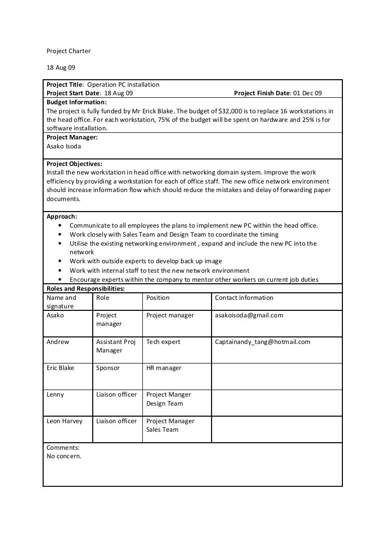 Office group project charter for Team charter template sample