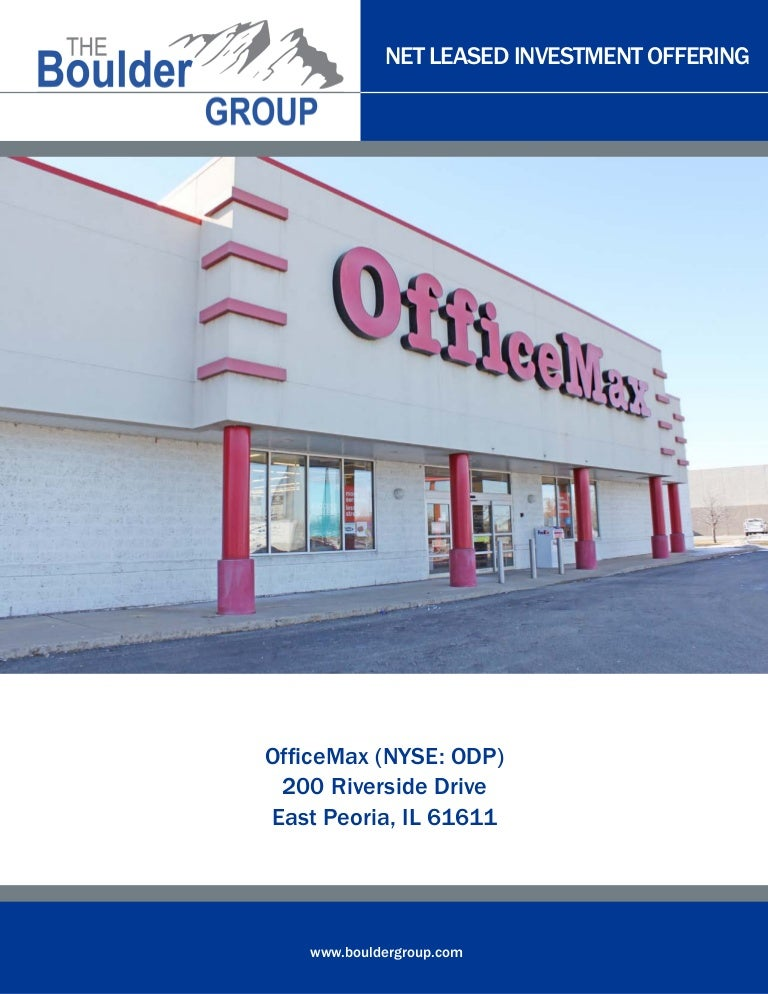 Single Tenant Officemax For Sale