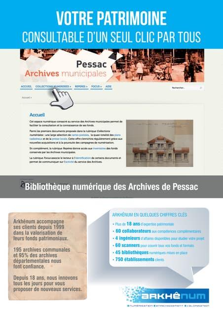 Offre Arkhênum pour les Archives municipales