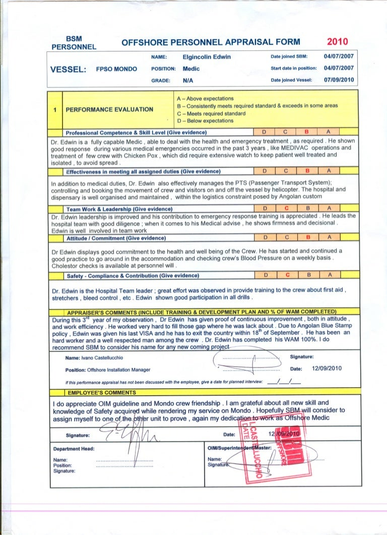 Personal appraisal form 2010 offshore personal appraisal form 2010 falaconquin