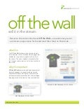 Off The Wall Sales Sheet