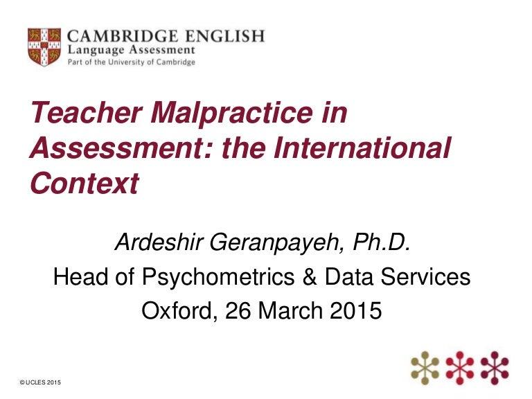 Teacher Malpractice In Assessment The International Context Ofqual