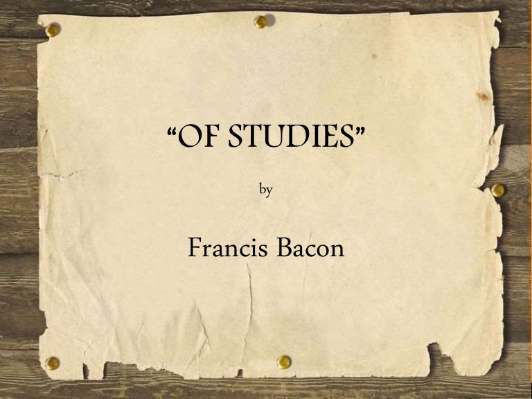 main theme of of truth by bacon