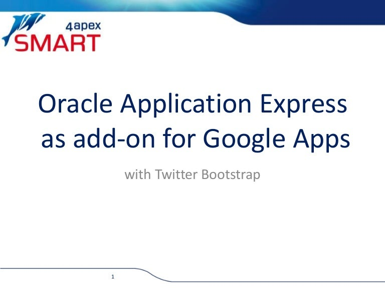 oracle application express as add on for google apps
