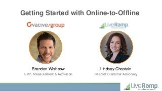 Getting Started with Online-to-Offline Measurement