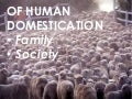 Of human domestication: family and society