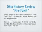 "Ohio History Review ""First Unit"""