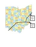 Proposed Route of Bluegrass Pipeline Through Ohio