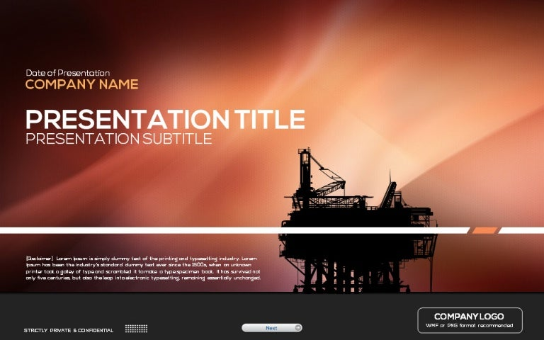 Oil industry powerpoint template toneelgroepblik Images
