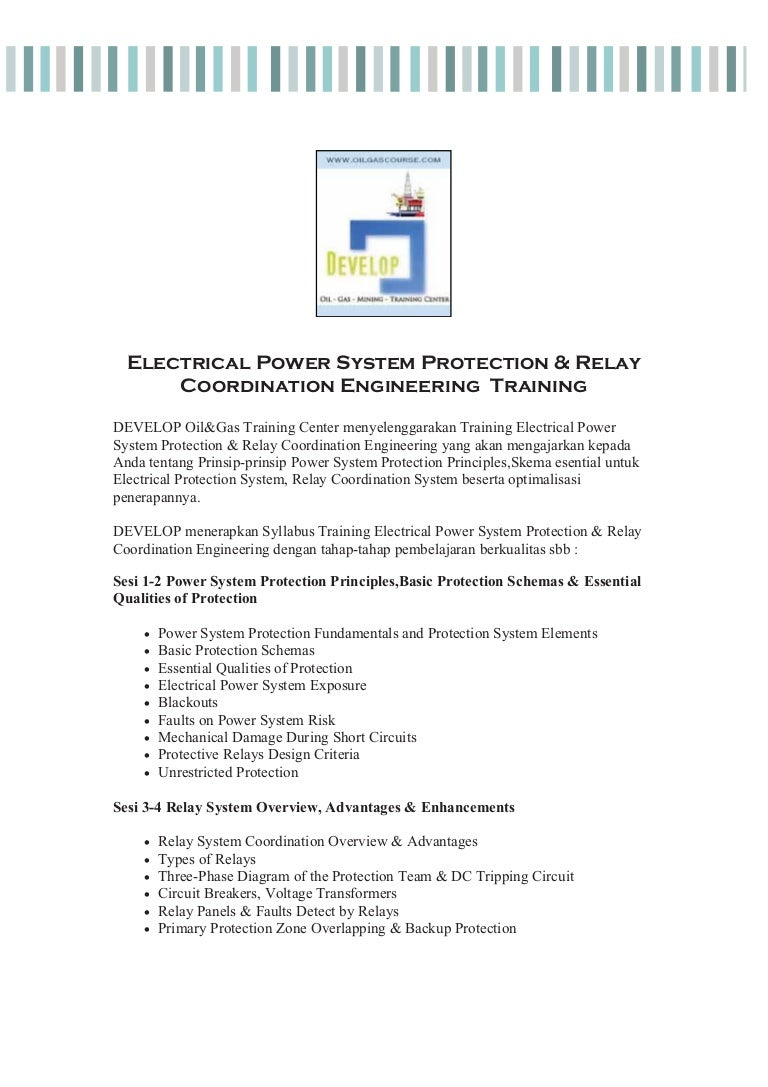 Electrical Power Protection  U0026 Relay Coordination Engineering