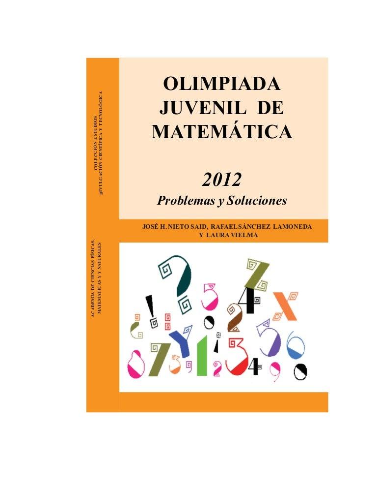 Ojm 2012 problemas y soluciones olimpiadas