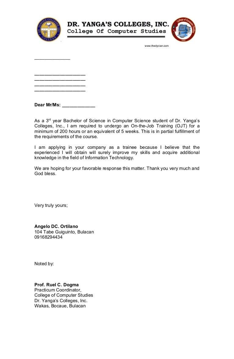 ojtapplicationletter-110321221300-phpapp02-thumbnail-4 Sample Application Letter For Ojt Hotel And Restaurant Management on