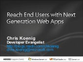 Next Generation Web Apps with VS08 and .NET 3.5