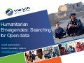 Humanitarian emergencies: searching for Open Data - OKCon2013
