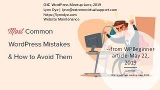 Okc wp meetup june 2019_common_wp_mistakes