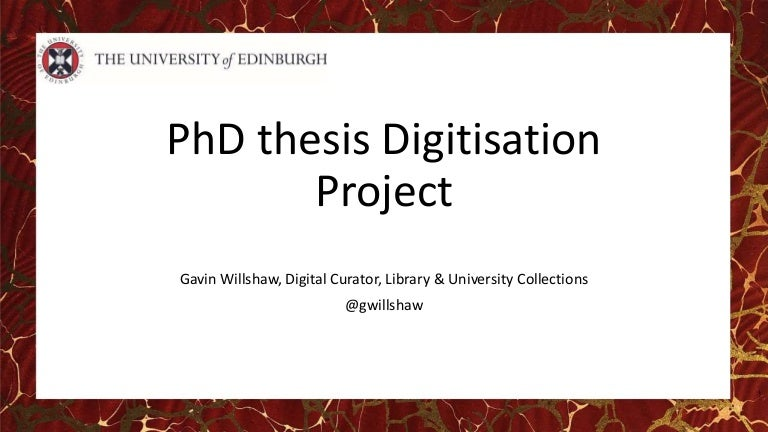 Thumbnail for PhD Thesis Digitisation Project