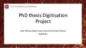 PhD Thesis Digitisation Project