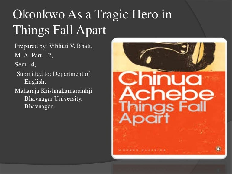 things fall apart okonkwo s obituary The protagonist is obi, grandson of things fall apart's main character, okonkwo drawing on his time in the city, achebe writes about obi's experiences in lagos to reflect the challenges facing a new generation on the threshold of nigerian independence.