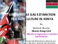 Okumu GHG estimation for agric Kenya nov 10 2014