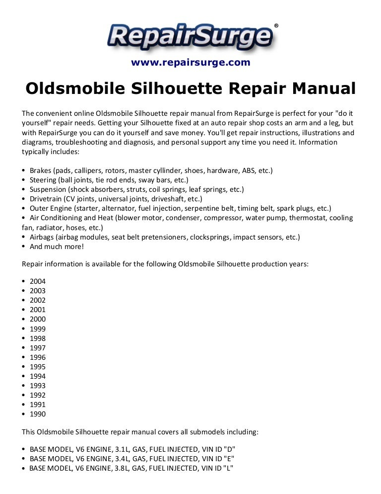 oldsmobilesilhouetterepairmanual1990 2004 141113021243 conversion gate02 thumbnail 4?cb=1415845167 oldsmobile silhouette repair manual 1990 2004 2001 oldsmobile silhouette wiring diagram at creativeand.co