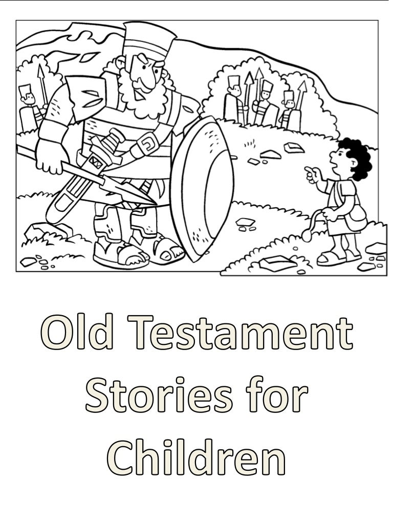 Old Testament Stories for Children: Coloring Book