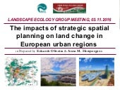 The impacts of strategic spatial planning on land change in European urban regions