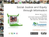 Social Justice and Equity through Information
