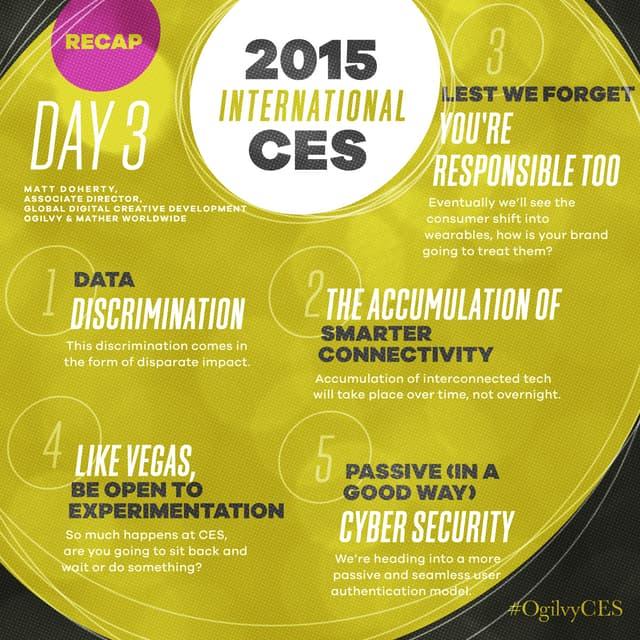 2015 International CES Day 3 Recap #OgilvyCES