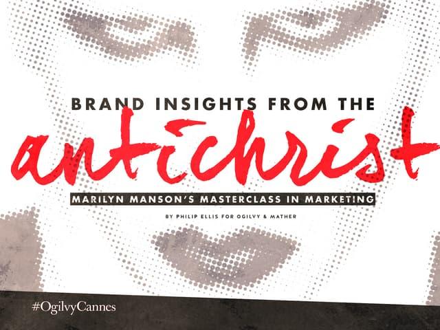 Marilyn Manson's Masterclass in Marketing