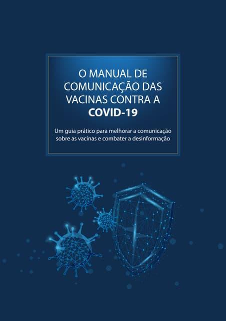 Vacinas contra a Covid: Manual de Comunicação / Divulgação científica