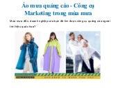 Áo mưa quảng cáo - công cụ marketing hiệu quả trong mùa mưa