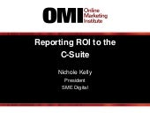 Reporting ROI to the C-Suite