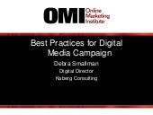 Best Practices for Digital Media Campaign