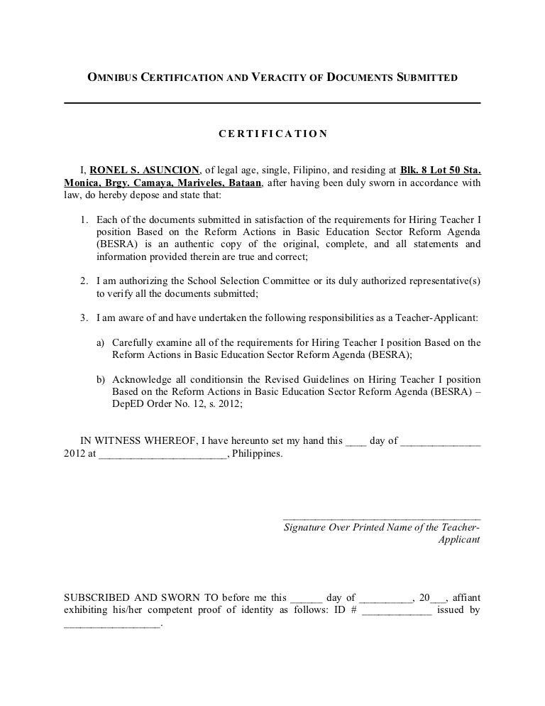 Omnibus certification itznhel yadclub Choice Image
