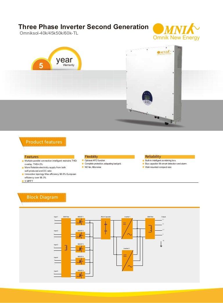 Omnik Solar Inverter 40k 45k 50k 60k Tl 3 Phase Block Diagram