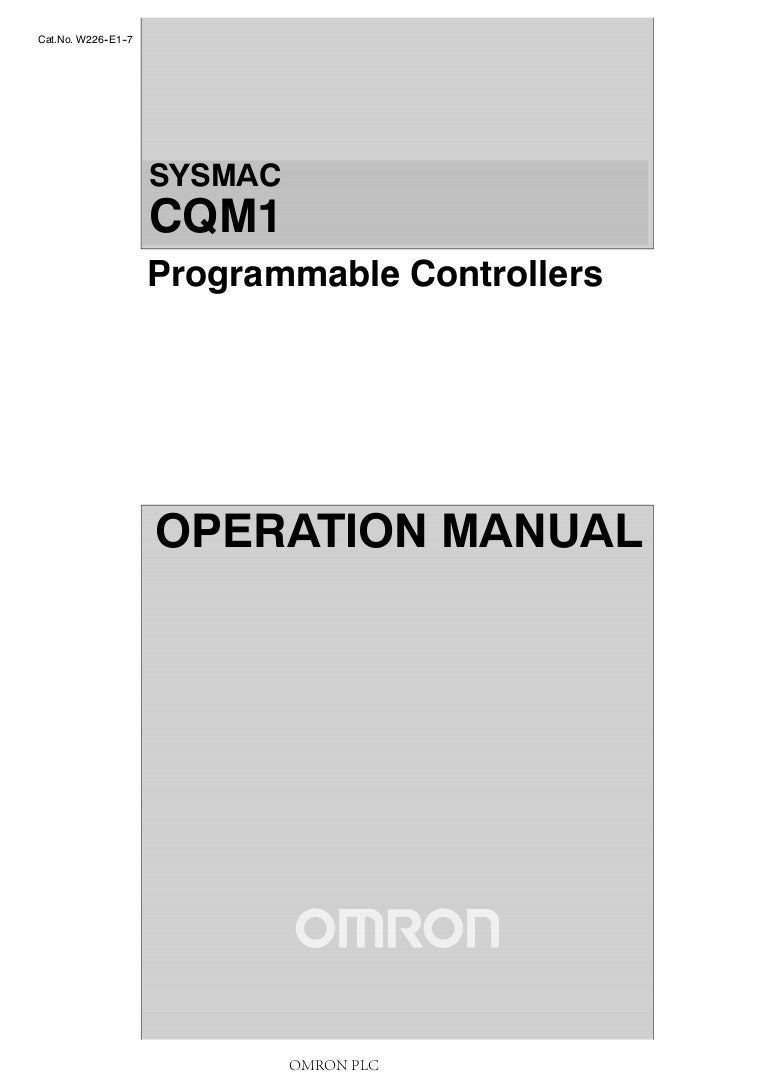 Omron Plc Cqm1 Opearation Manual Wiring Diagram