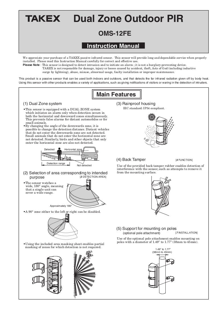 Takex Oms 12fe Instruction Manual Pam1 Relay Wiring Diagram