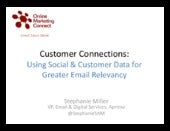 Using Social & Customer Data for Greater Email Relevancy